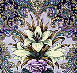 Сказки летней ночи 1862-1, павлопосадский платок шерстяной с шелковой бахромой, фото 4