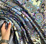 Сказки летней ночи 1862-1, павлопосадский платок шерстяной с шелковой бахромой, фото 8