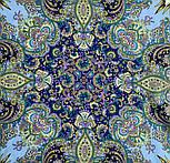 Сказки летней ночи 1862-1, павлопосадский платок шерстяной с шелковой бахромой, фото 9