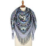 Сказки летней ночи 1862-1, павлопосадский платок шерстяной с шелковой бахромой, фото 2