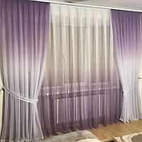 Модные шторы в комплекте с тюлем