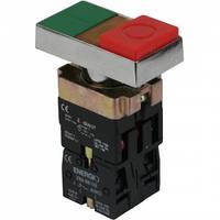 Кнопка ПУСК/СТОП с индикатором зеленая/красная выступающая NO+NC XB2-BW8475