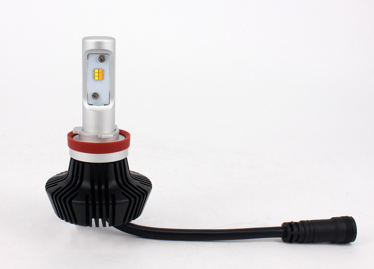 Комплект LED ламп 6000K/3000K в основные фонари серии G7 Цоколь Н11, H8, H9, 24W, 4000 Люмен/Комплект