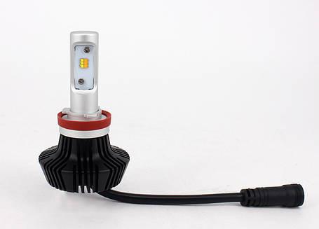 Комплект LED ламп 6000K/3000K в основные фонари серии G7 Цоколь Н11, H8, H9, 24W, 4000 Люмен/Комплект, фото 2