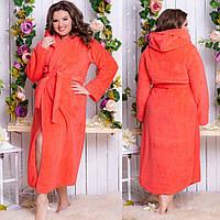 Длинный женский махровый халат батал, фото 1