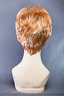 Короткие парики №15,цвет мелирование рыжий с классическим блондом