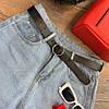 Женские шорты из голубого денима с черным ремнем. Д-52-0419, фото 3