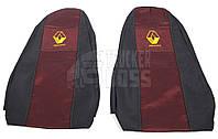 Чехлы на сиденья Renault Magnum Красного цвета