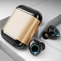 Бездротові навушники Bluetooth 5.0 гарнітура Wi-pods S7 Оригінал з вологозахистом із чохлом Power bank. Gold