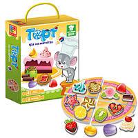 """Гра настільна """"Магнітна кулінарна гра Торт"""" VT3004-01 укр."""