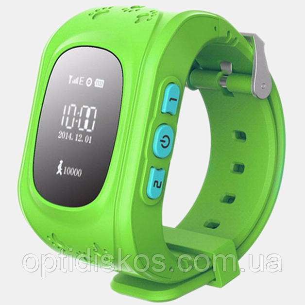 Детские смарт часы с GPS трекером, салатовые (+ прослушка, датчик снятия, сим карта)