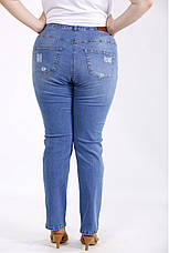 Джинсы женские стильные высококачественные большие батальные размеры 42-74, фото 3