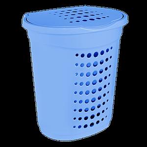 Корзина для белья 60л. голубая