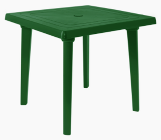 Стол квадратный 80*80 см Алеана зеленый