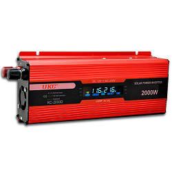 Преобразователь напряжения. Инвертор 12v-220v 2000w c LCD-дисплеем UKC