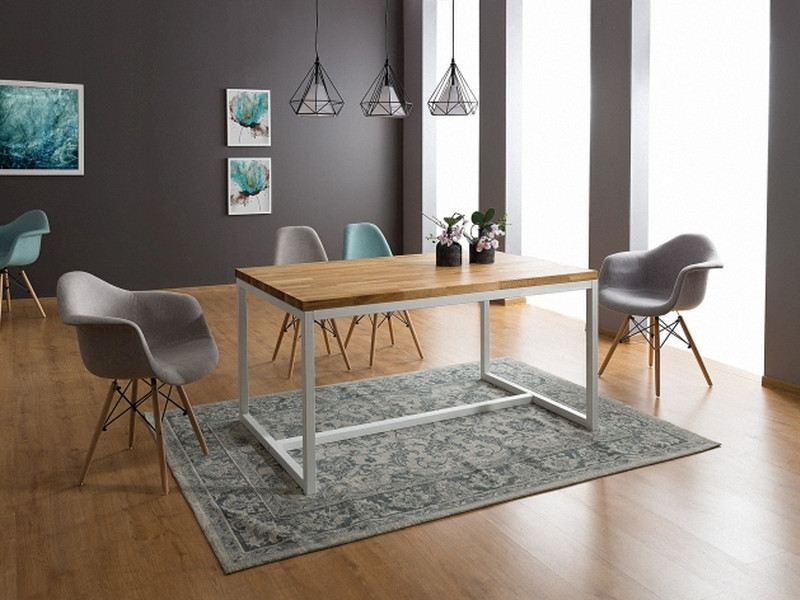 Деревянный стол Signal Loras A 150x90 белый дуб