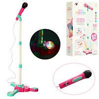 Детский Микрофонна подставке, музыка, звук, свет, Bluetooth, на батарейках,YH015-3-1