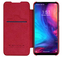 Кожаный чехол-книжка Nillkin Qin Series для Xiaomi Redmi Note 7 / Note 7 Pro - Red