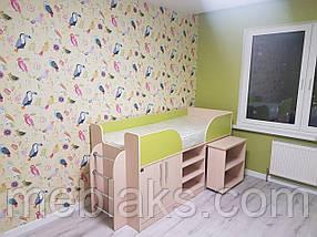"""Кровать детская """"Пумба"""" трансформер с столом и шкафом, фото 3"""