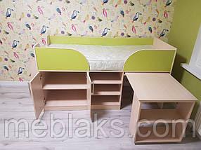 """Кровать детская """"Пумба"""" трансформер с столом и шкафом, фото 2"""