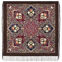 Сказки летней ночи 1862-16, павлопосадский платок шерстяной с шелковой бахромой, фото 1