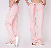 💠Льняные брюки летние женские пудра, фото 1