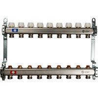 Коллектор Penoroll для отопления с отсечными клапанами, латунный, на 4 выхода