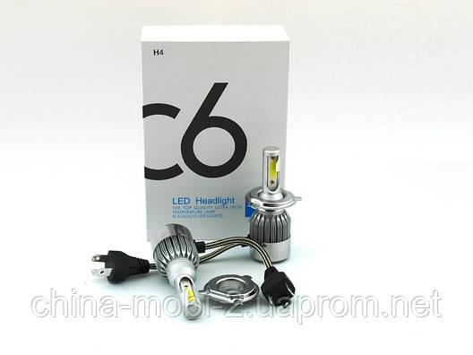 LED C6 H4 H L COB 6500k 3800Lm 2*35w 12v-24v, светодиодные автомобильные лампы основного света, фото 2