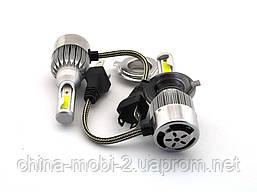 LED C6 H4 H L COB 6500k 3800Lm 2*35w 12v-24v, светодиодные автомобильные лампы основного света, фото 3