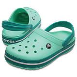 Кроксы мужские шлепанцы сабо Крокбенд оригинал / Crocs Crocband Clog (11016), Мятные, фото 2