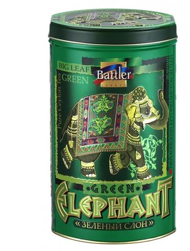 Чай Battler Зеленый Слон Крупнолистовой (ОПА) 200 гр. Ж/Б