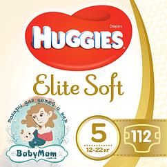 Подгузники Huggies Elite Soft Junior 5 (12-22 кг), 112шт