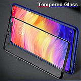 Защитное стекло Glasscover закаленное 9D для Xiaomi Redmi Note 7 / PRO / Есть чехлы /, фото 5