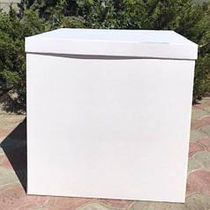 Коробка-сюрприз 700*700*700мм белая без печати