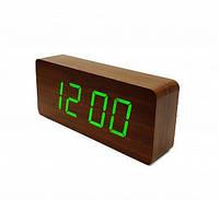 Настольные часы VST-865-4 с ярко-зеленой подсветкой
