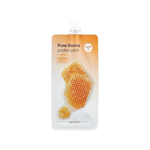 Ночная маска для лица с экстрактом меда Missha Pure Source Pocket Pack Honey