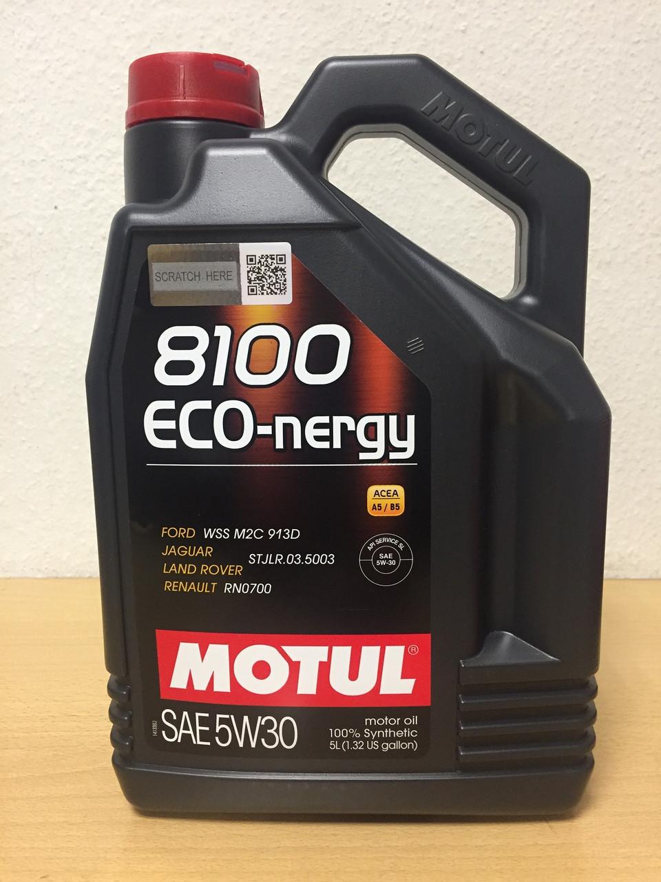 Масло Motul 8100 Eco-Nergy 5W-30 5л (102898)