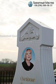 Памятник из белого мрамора женщине в с. Хотов, Киевской обл.  7