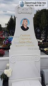 Памятник из белого мрамора женщине в с. Хотов, Киевской обл.  8