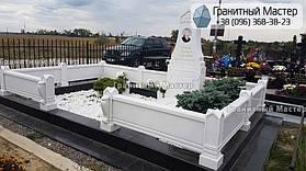 Памятник из белого мрамора женщине в с. Хотов, Киевской обл.  3
