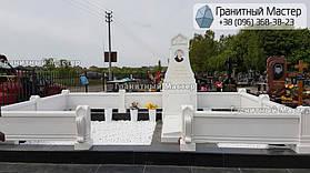 Памятник из белого мрамора женщине в с. Хотов, Киевской обл.  22