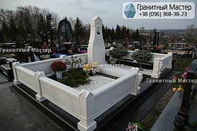 Памятник из белого мрамора женщине в с. Хотов, Киевской обл.  24