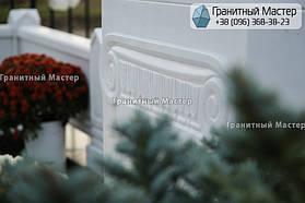 Памятник из белого мрамора женщине в с. Хотов, Киевской обл.  32