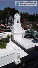 Памятник из белого мрамора женщине в с. Хотов, Киевской обл.  34