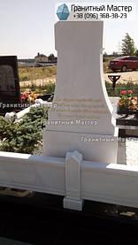Памятник из белого мрамора женщине в с. Хотов, Киевской обл.  38
