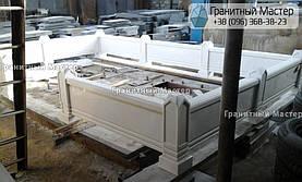 Памятник из белого мрамора женщине в с. Хотов, Киевской обл.  15