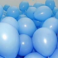 """Воздушные шары 100 шт латексные, цвет голубой пастель 10""""(26 см)Италия"""
