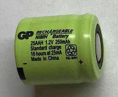 Акумулятор технічний 25AAH GP 1/3AA 1.2 V 250mAh (Ni-Mh)