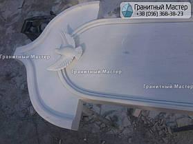 Памятник из гранита и мрамора молодой девушке. Сумская обл. г. Ахтырка 11