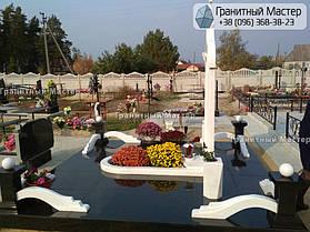 Памятник из гранита и мрамора молодой девушке. Сумская обл. г. Ахтырка 6